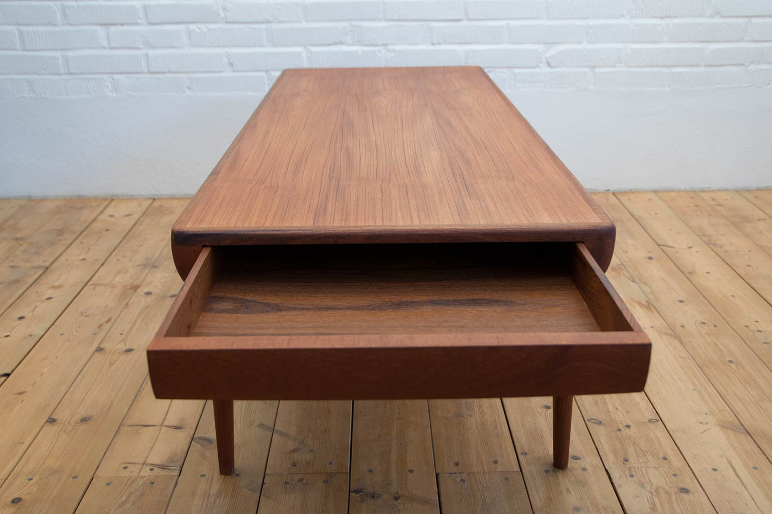 Johannes andersen teak coffee table scandinavian design johannes andersen teak coffee table geotapseo Gallery